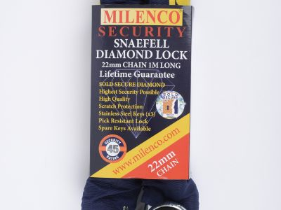 Snaefell Diamond Lock and 22mm Chain