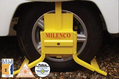 "MILENCO CARAVAN MOTORHOME 13/"" WHEEL CLAMP SECURITY C13 WHEELCLAMP 0598"