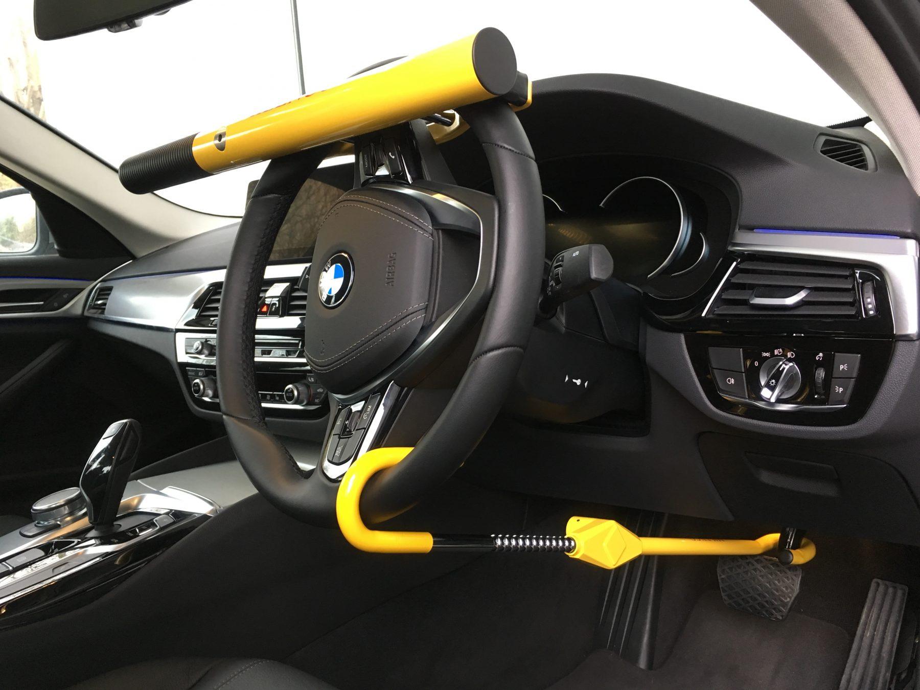 How To Unlock Steering Wheel >> High Security Steering Wheel Lock - Milenco, Europe's ...