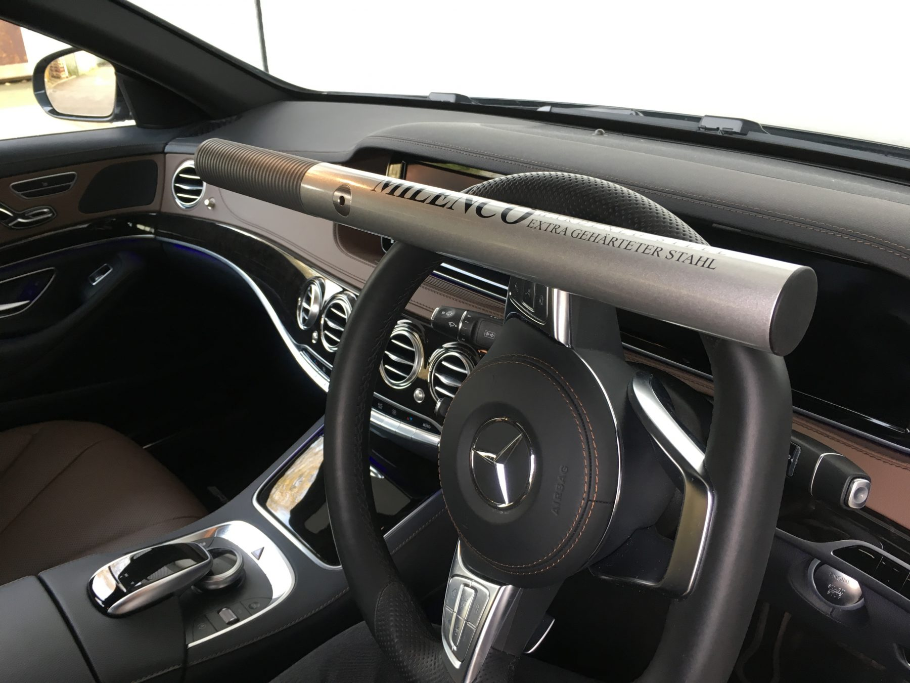 How To Unlock Steering Wheel >> High Security Steering Wheel Lock - Milenco, Europe's leading manufacturer of award winning ...