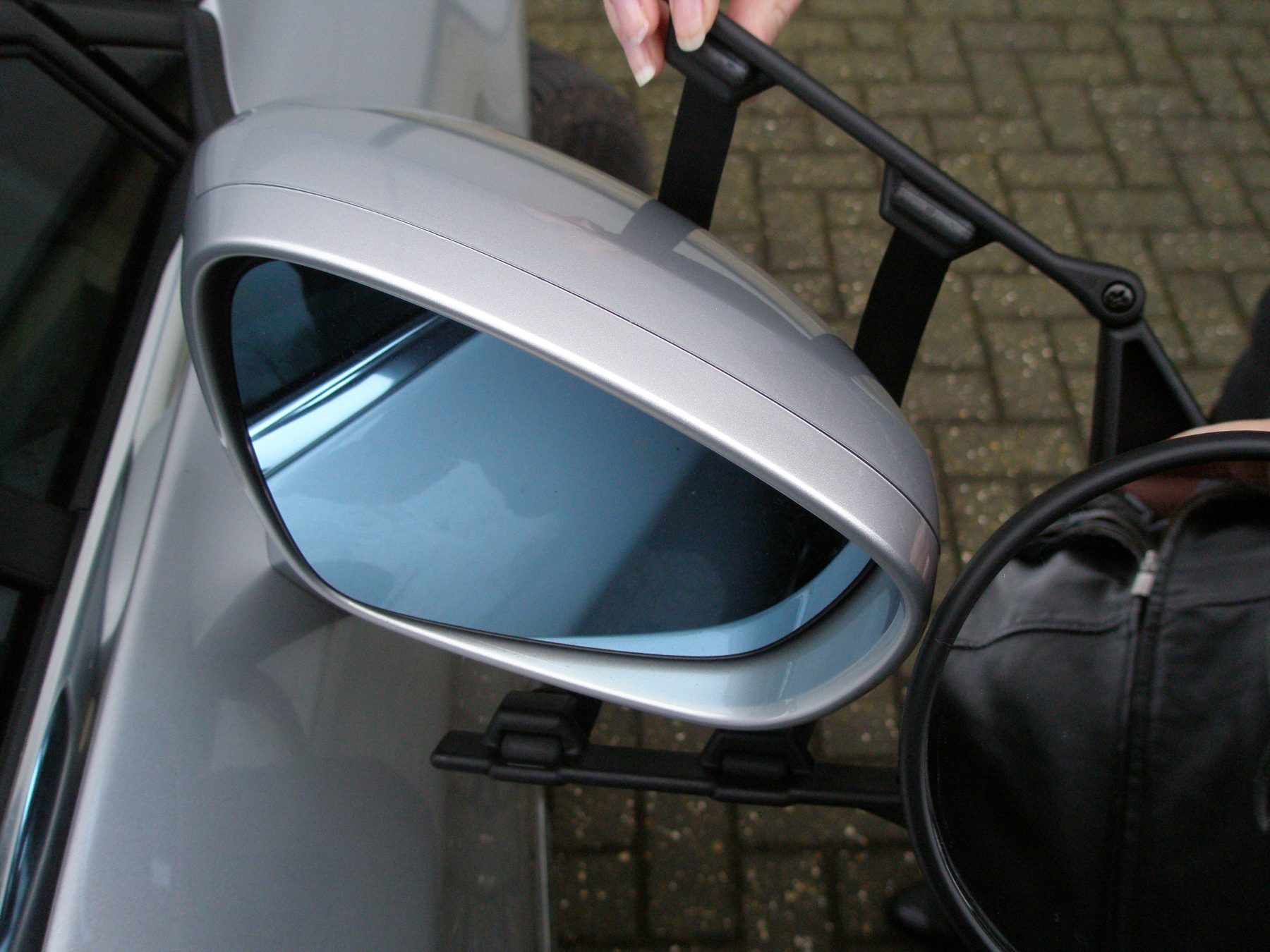 Car E Marked Caravan Trailer /& Towing Convex Glass Safety Wing Mirror Extension