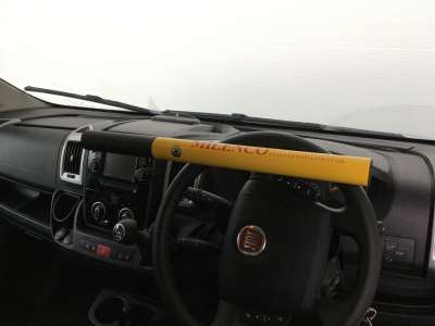 0499 High Security Steering Wheel Lock On Van