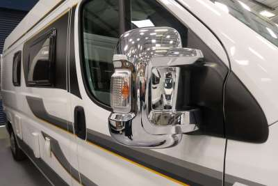 5449 Short Arm Chrome Mirror Covers