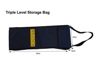 Triple Level Bag White Background Dims